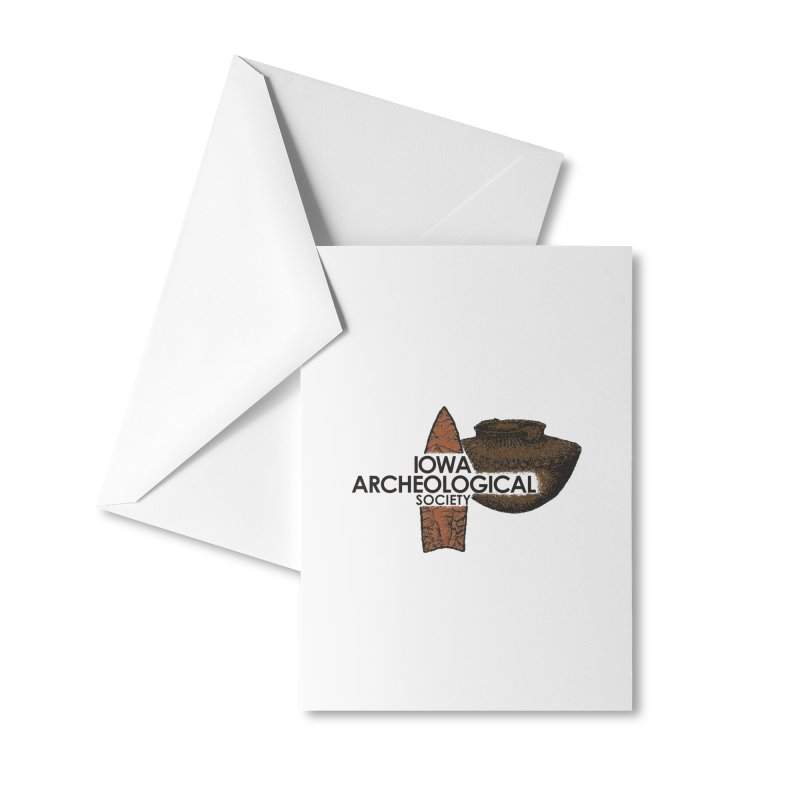 IAS Classic Logo (Color) Accessories Greeting Card by Iowa Archaeology Gifts, Prints, & Apparel