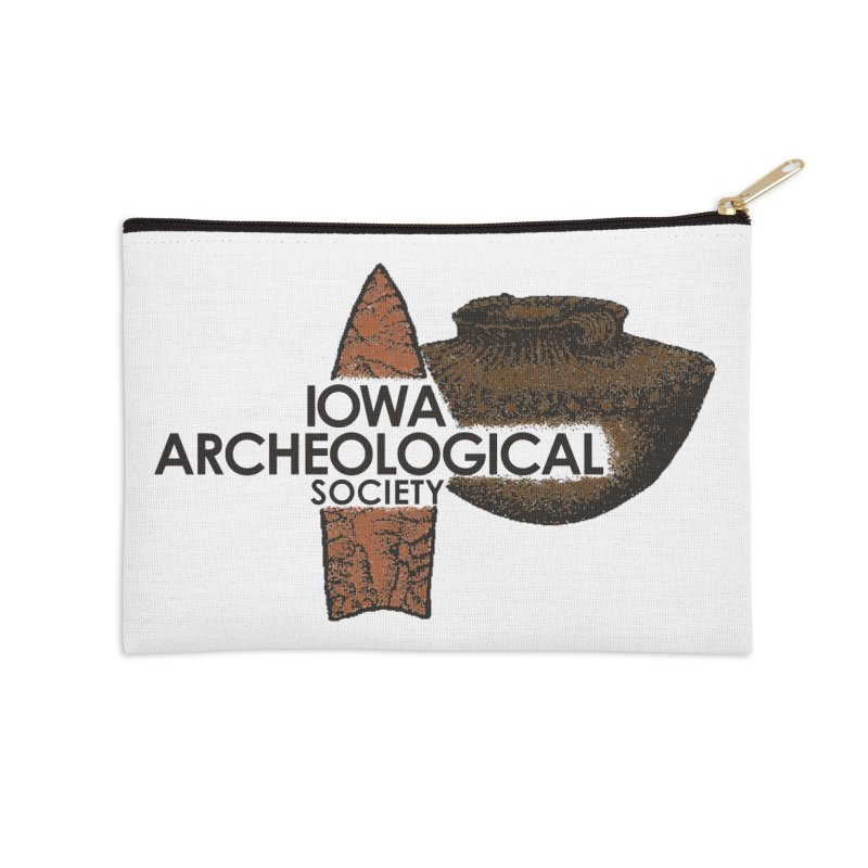 IAS Classic Logo (Color) Accessories Zip Pouch by Iowa Archaeology Gifts, Prints, & Apparel