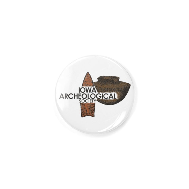 IAS Classic Logo (Color) Accessories Button by Iowa Archaeology Gifts, Prints, & Apparel