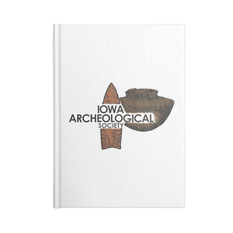 IAS Classic Logo (Color) Accessories Lined Journal Notebook by Iowa Archaeology Gifts, Prints, & Apparel