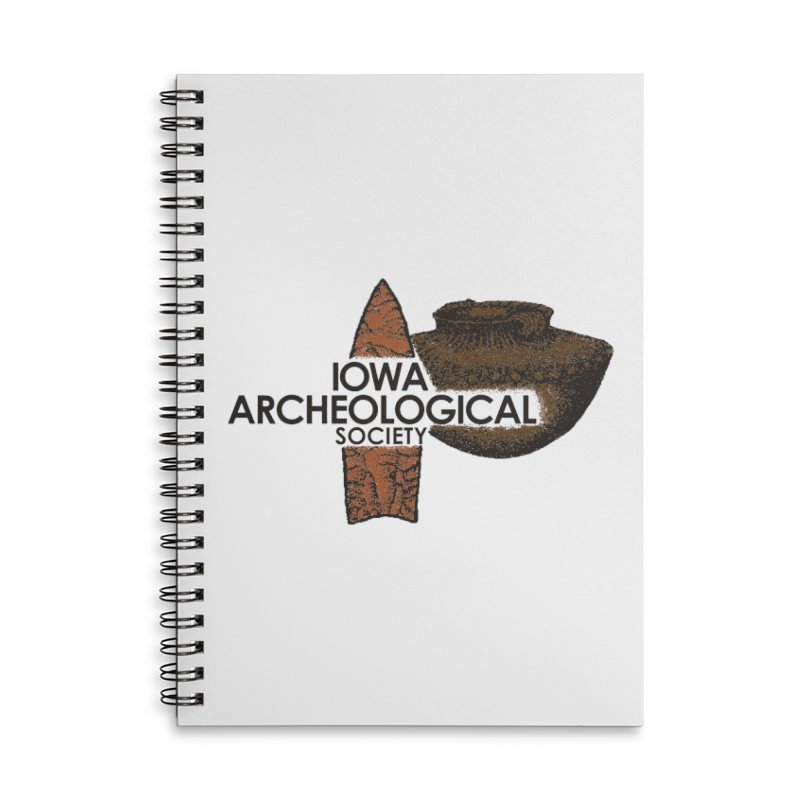 IAS Classic Logo (Color) Accessories Lined Spiral Notebook by Iowa Archaeology Gifts, Prints, & Apparel