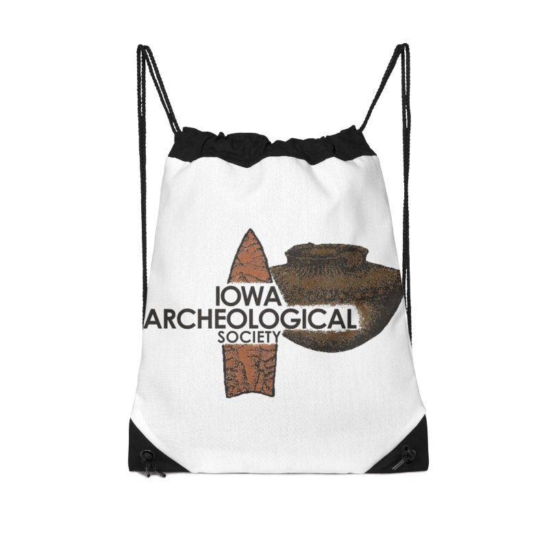 IAS Classic Logo (Color) Accessories Drawstring Bag Bag by Iowa Archaeology Gifts, Prints, & Apparel