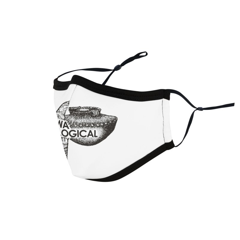 IAS Classic Logo (Black) Accessories Face Mask by Iowa Archaeology Gifts, Prints, & Apparel