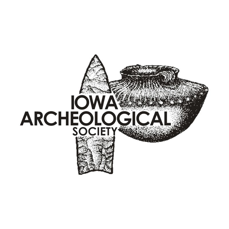 IAS Classic Logo (Black) by Iowa Archaeology Gifts, Prints, & Apparel