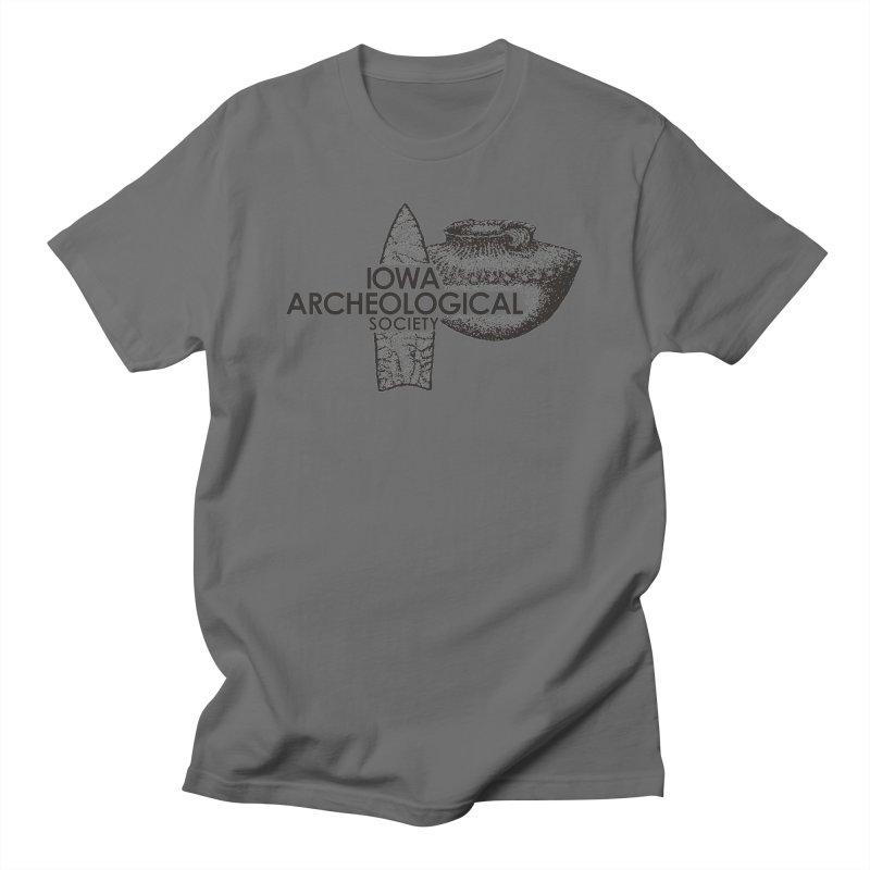 IAS Classic Logo (Black) Men's T-Shirt by Iowa Archaeology Gifts, Prints, & Apparel