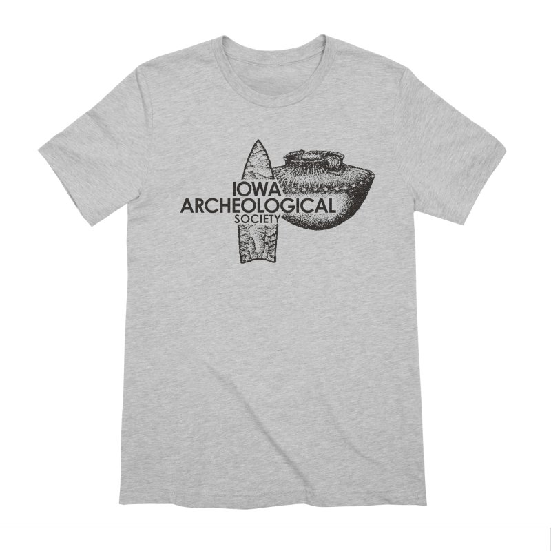 IAS Classic Logo (Black) Men's Extra Soft T-Shirt by Iowa Archaeology Gifts, Prints, & Apparel