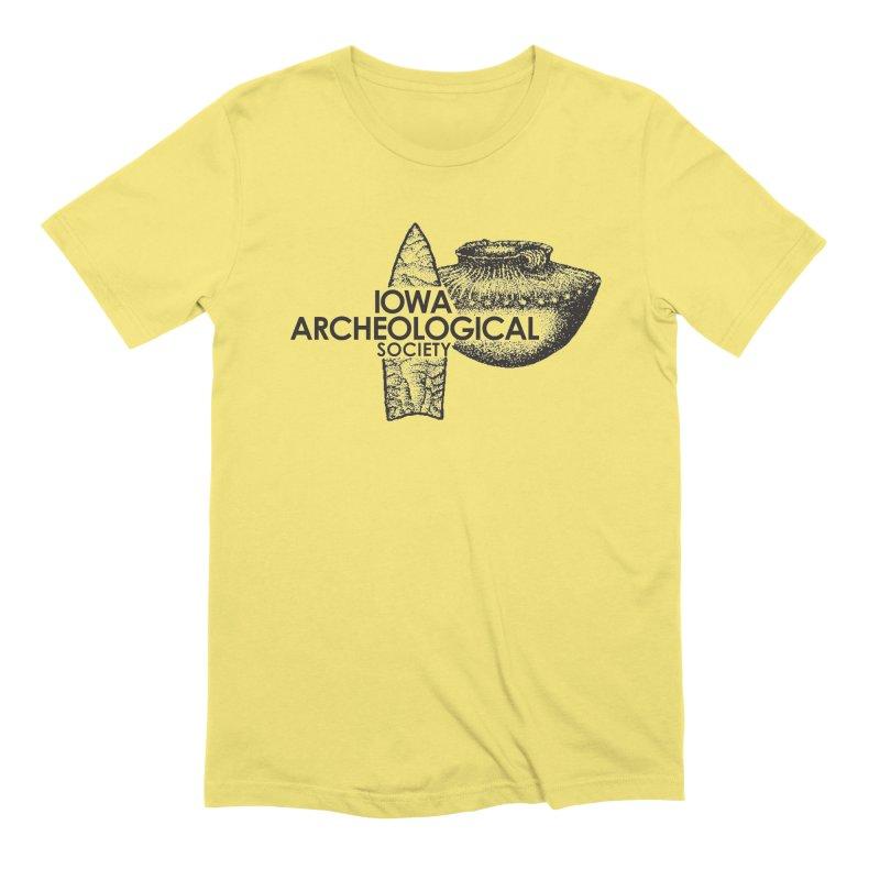 IAS Classic Logo (Black) Men's Extra Soft T-Shirt by Iowa Archaeology Gifts, Prints, & Apparel