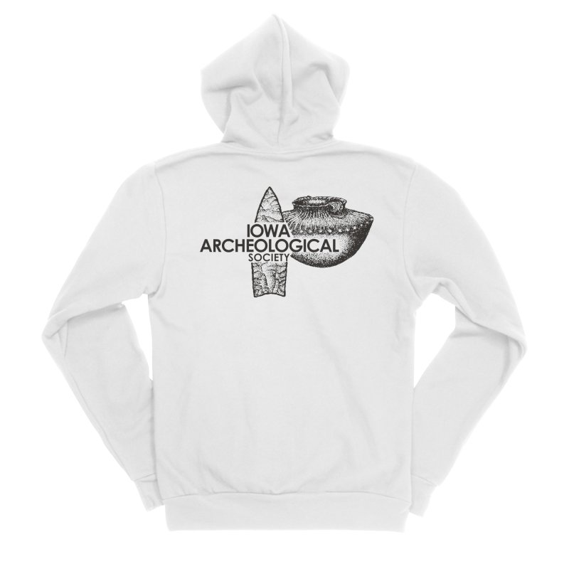 IAS Classic Logo (Black) Men's Sponge Fleece Zip-Up Hoody by Iowa Archaeology Gifts, Prints, & Apparel