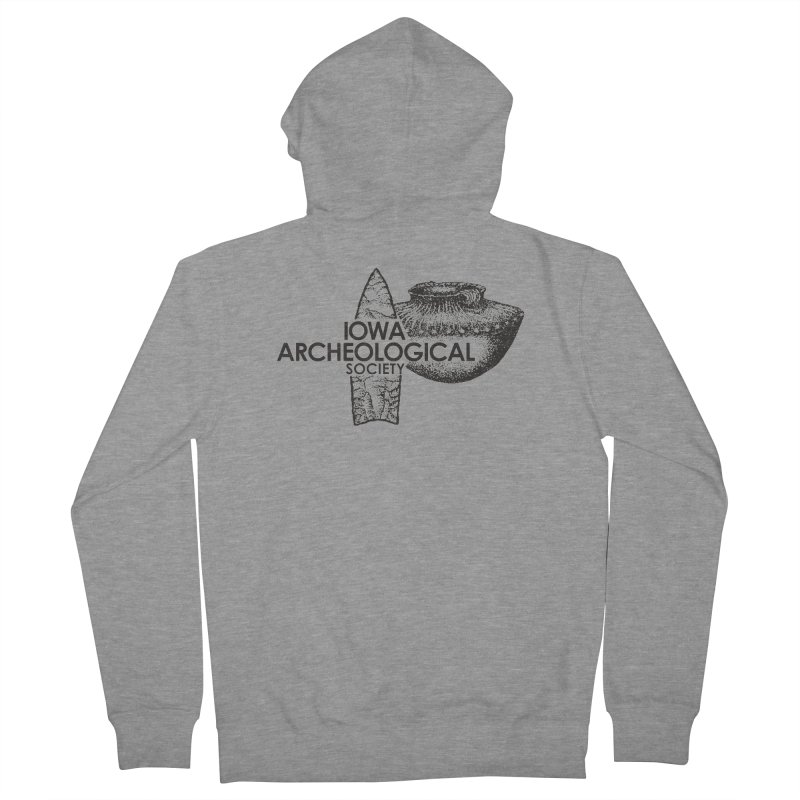 IAS Classic Logo (Black) Men's French Terry Zip-Up Hoody by Iowa Archaeology Gifts, Prints, & Apparel