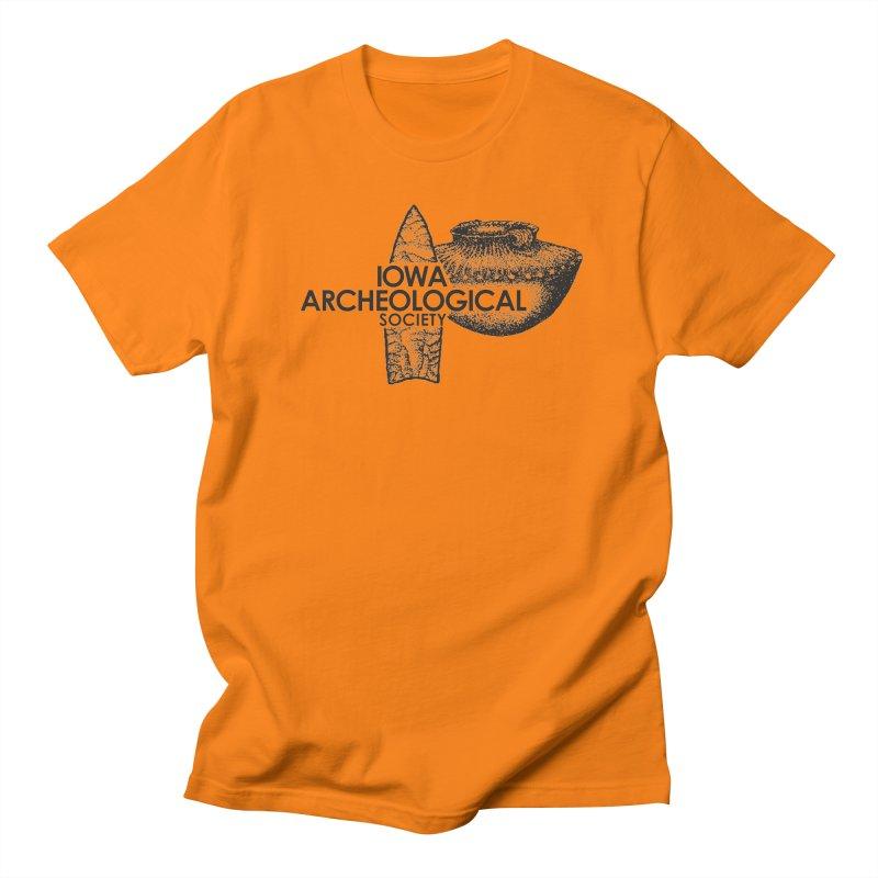 IAS Classic Logo (Black) Men's Regular T-Shirt by Iowa Archaeology Gifts, Prints, & Apparel