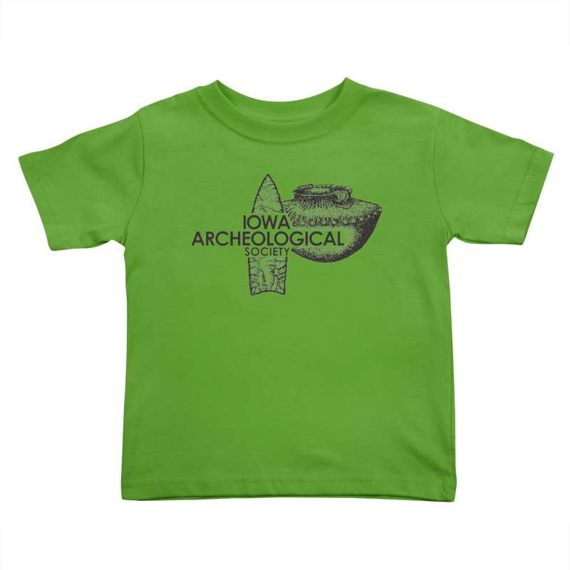 IAS Classic Logo (Black) Kids Toddler T-Shirt by Iowa Archaeology Gifts, Prints, & Apparel