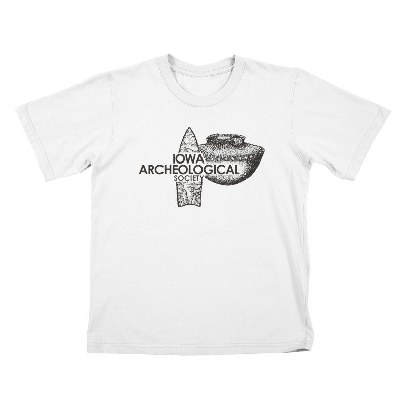 IAS Classic Logo (Black) Kids T-Shirt by Iowa Archaeology Gifts, Prints, & Apparel