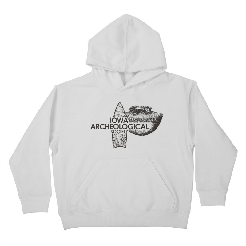 IAS Classic Logo (Black) Kids Pullover Hoody by Iowa Archaeology Gifts, Prints, & Apparel