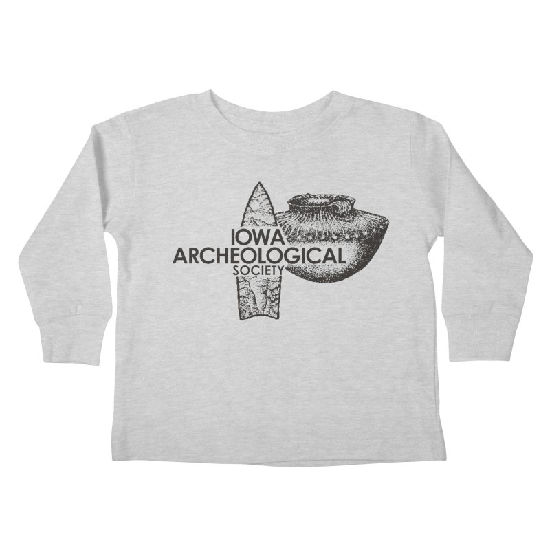 IAS Classic Logo (Black) Kids Toddler Longsleeve T-Shirt by Iowa Archaeology Gifts, Prints, & Apparel