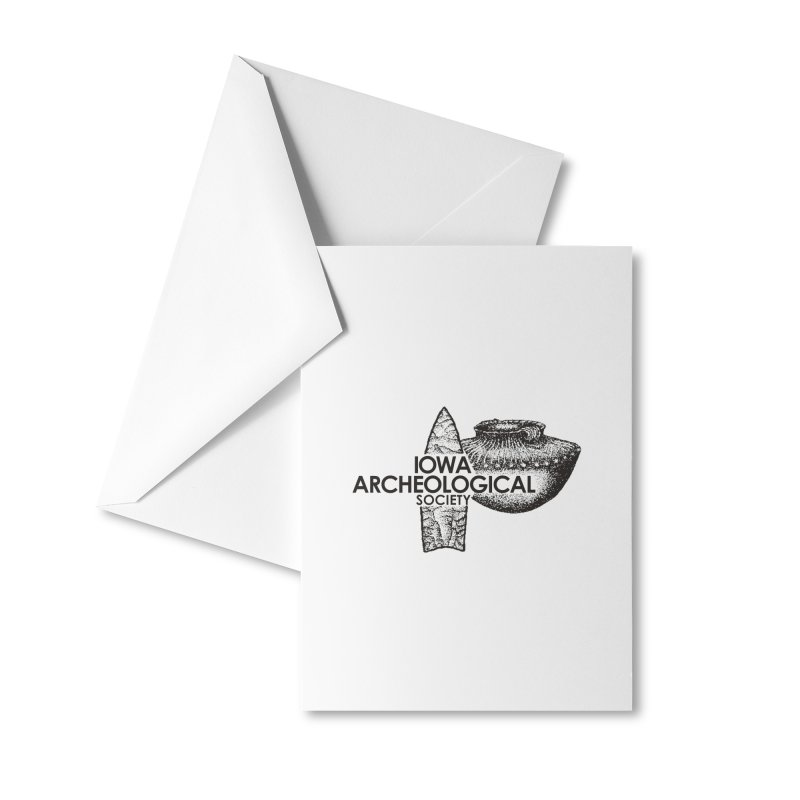 IAS Classic Logo (Black) Accessories Greeting Card by Iowa Archaeology Gifts, Prints, & Apparel
