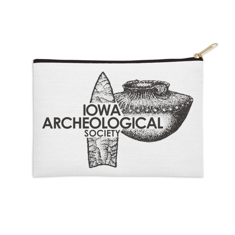 IAS Classic Logo (Black) Accessories Zip Pouch by Iowa Archaeology Gifts, Prints, & Apparel