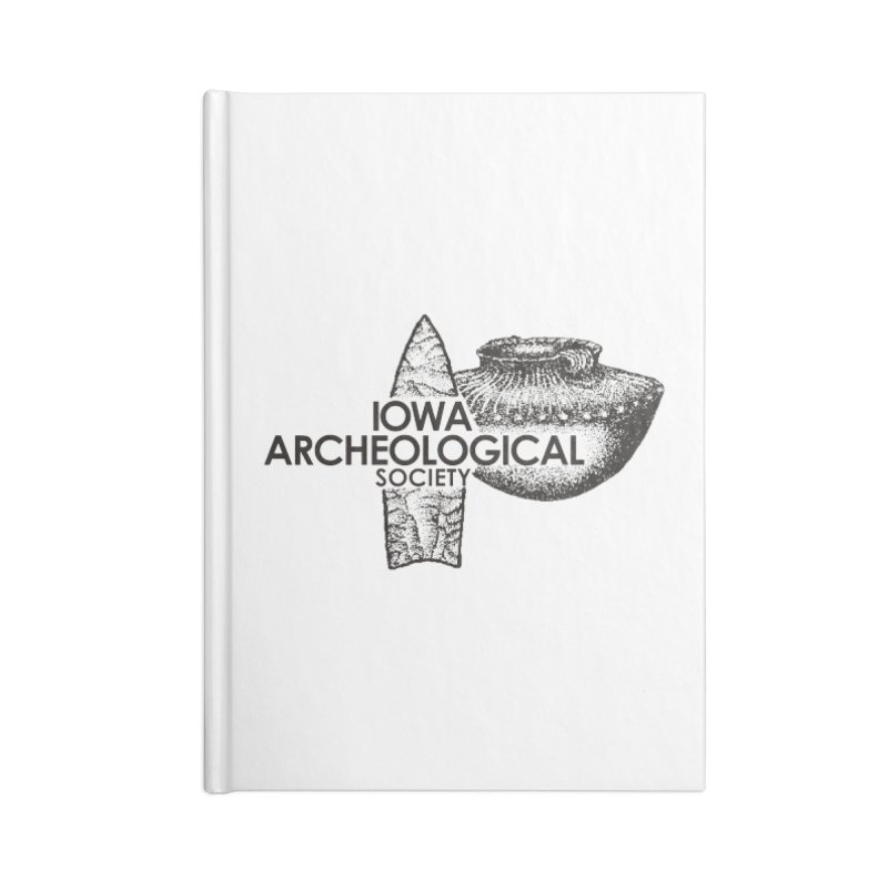 IAS Classic Logo (Black) Accessories Lined Journal Notebook by Iowa Archaeology Gifts, Prints, & Apparel