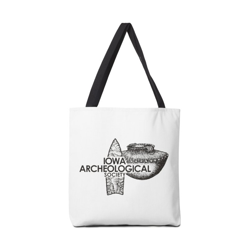 IAS Classic Logo (Black) Accessories Bag by Iowa Archaeology Gifts, Prints, & Apparel