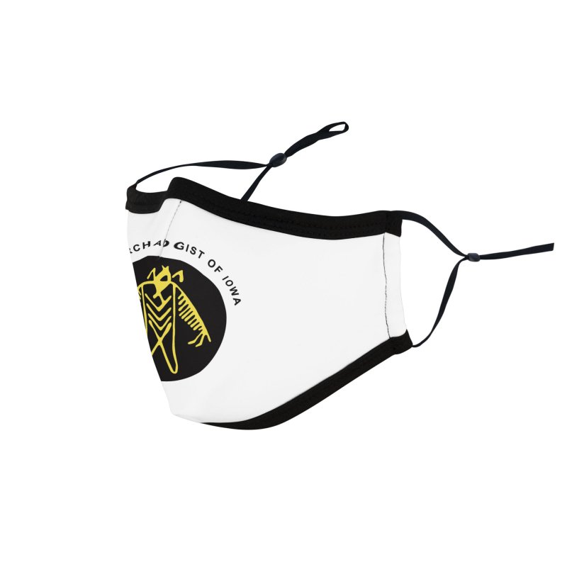 Office of the State Archaeologist Logo (Black & Gold) Accessories Face Mask by Iowa Archaeology Gifts, Prints, & Apparel