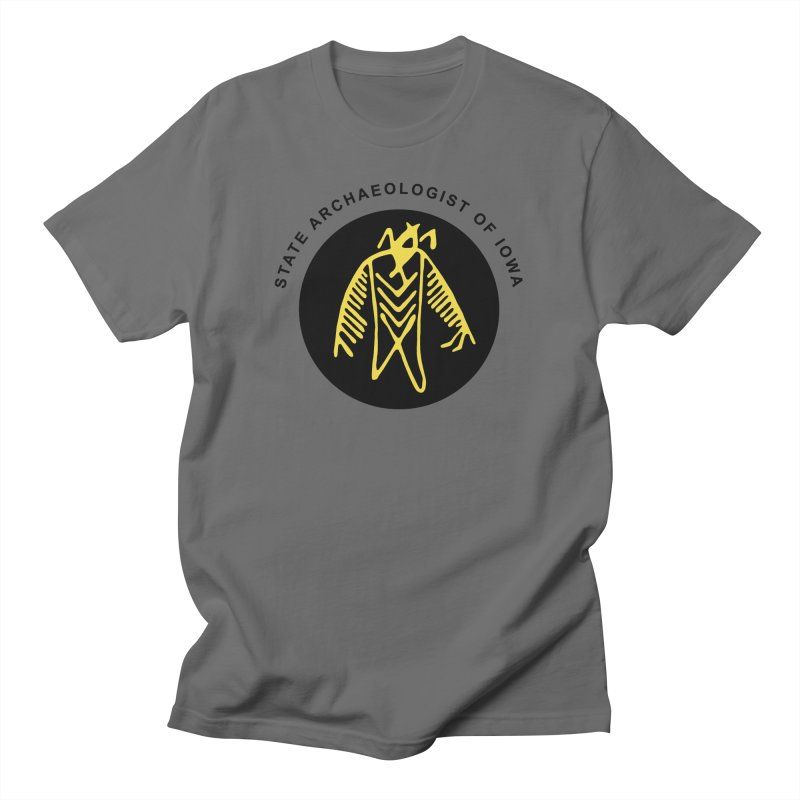 Office of the State Archaeologist Logo (Black & Gold) Men's T-Shirt by Iowa Archaeology Gifts, Prints, & Apparel