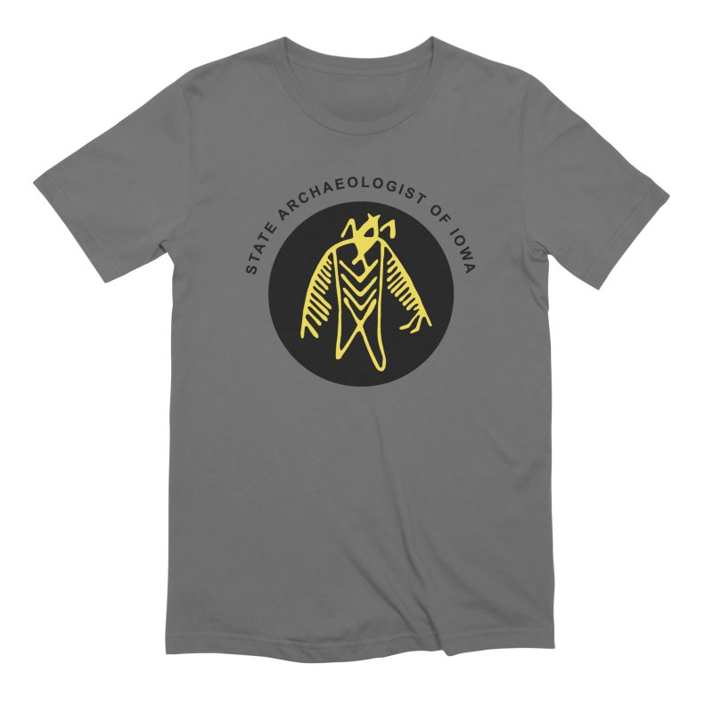 Office of the State Archaeologist Logo (Black & Gold) Men's Extra Soft T-Shirt by Iowa Archaeology Gifts, Prints, & Apparel