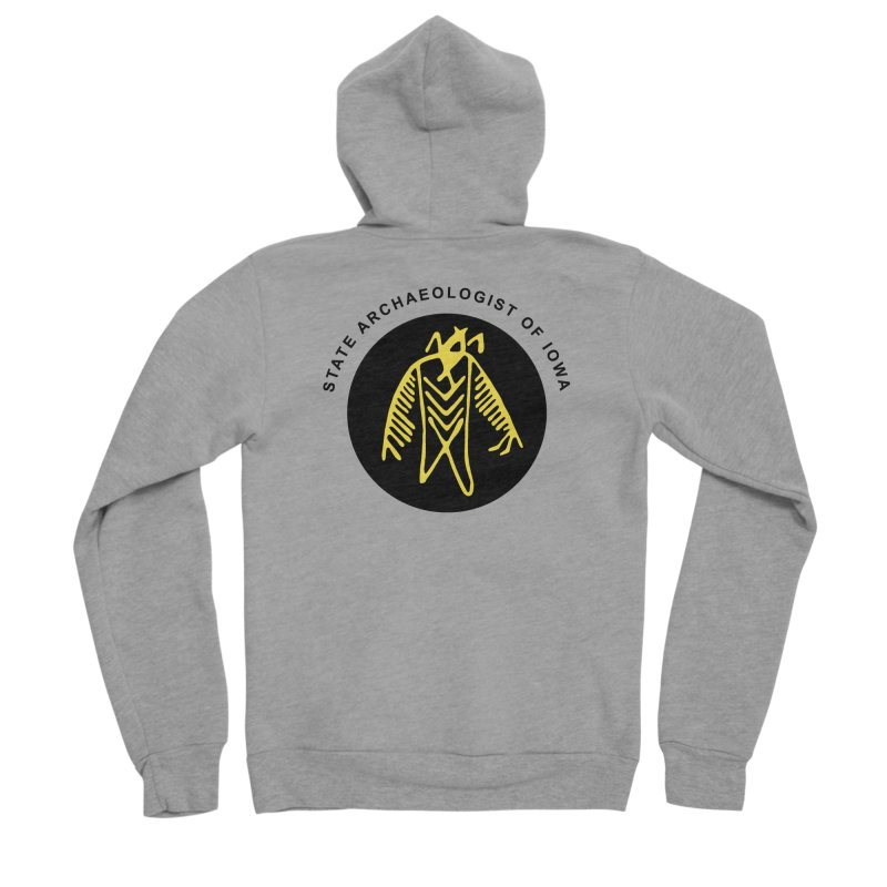 Office of the State Archaeologist Logo (Black & Gold) Men's Sponge Fleece Zip-Up Hoody by Iowa Archaeology Gifts, Prints, & Apparel