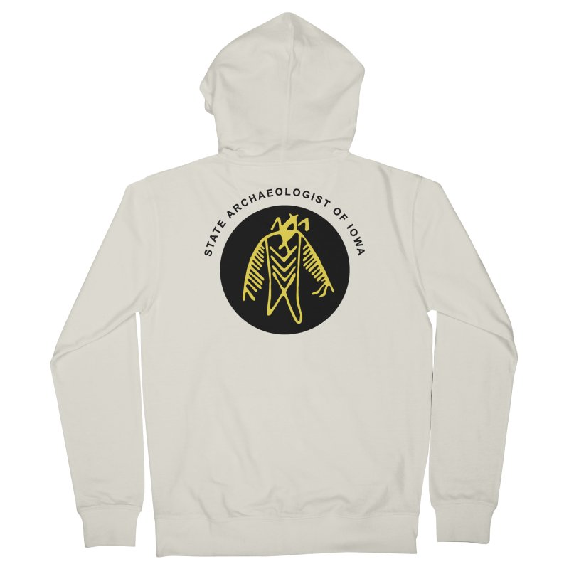 Office of the State Archaeologist Logo (Black & Gold) Women's French Terry Zip-Up Hoody by Iowa Archaeology Gifts, Prints, & Apparel