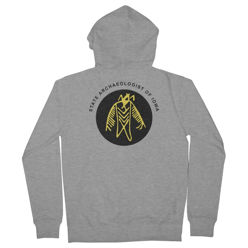 Office of the State Archaeologist Logo (Black & Gold) Men's French Terry Zip-Up Hoody by Iowa Archaeology Gifts, Prints, & Apparel
