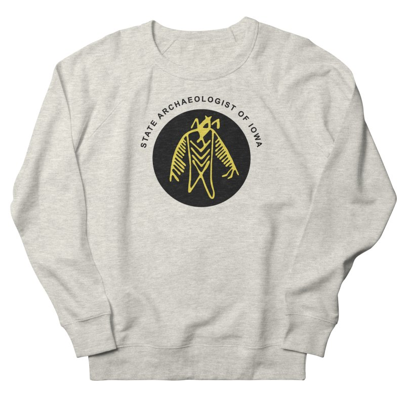 Office of the State Archaeologist Logo (Black & Gold) Women's Sweatshirt by Iowa Archaeology Gifts, Prints, & Apparel