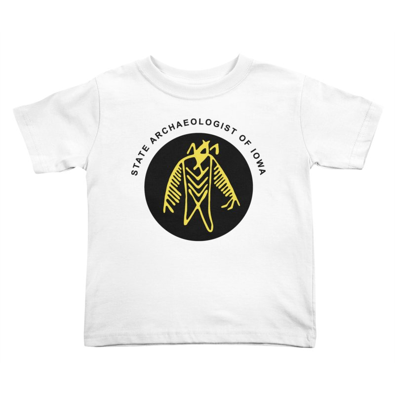 Office of the State Archaeologist Logo (Black & Gold) Kids Toddler T-Shirt by Iowa Archaeology Gifts, Prints, & Apparel