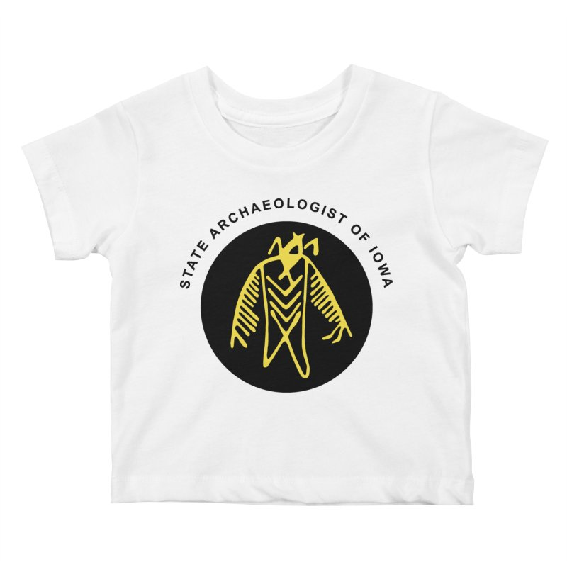 Office of the State Archaeologist Logo (Black & Gold) Kids Baby T-Shirt by Iowa Archaeology Gifts, Prints, & Apparel