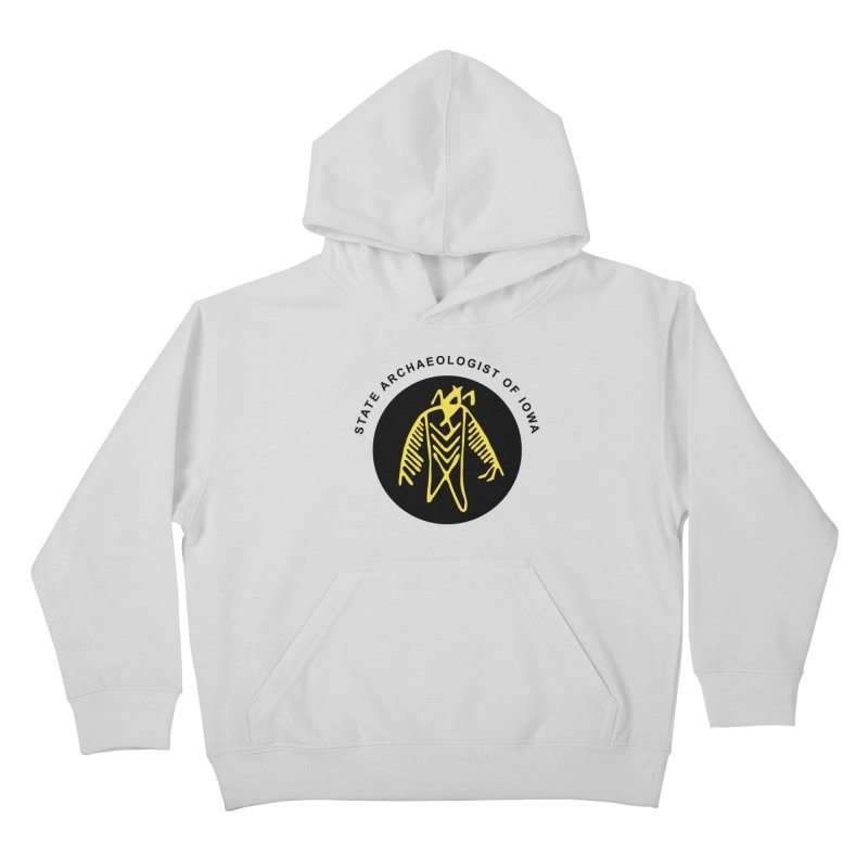 Office of the State Archaeologist Logo (Black & Gold) Kids Pullover Hoody by Iowa Archaeology Gifts, Prints, & Apparel