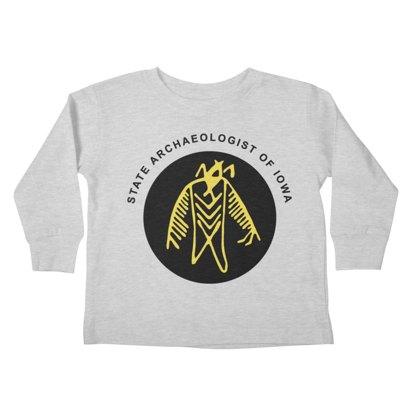 Office of the State Archaeologist Logo (Black & Gold) Kids Toddler Longsleeve T-Shirt by Iowa Archaeology Gifts, Prints, & Apparel