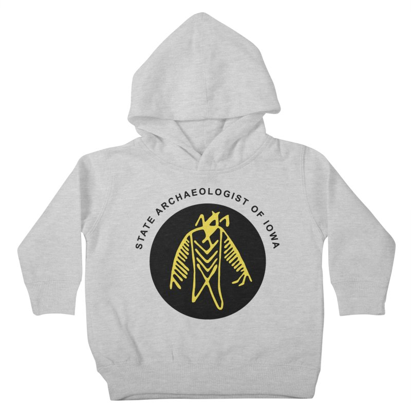 Office of the State Archaeologist Logo (Black & Gold) Kids Toddler Pullover Hoody by Iowa Archaeology Gifts, Prints, & Apparel