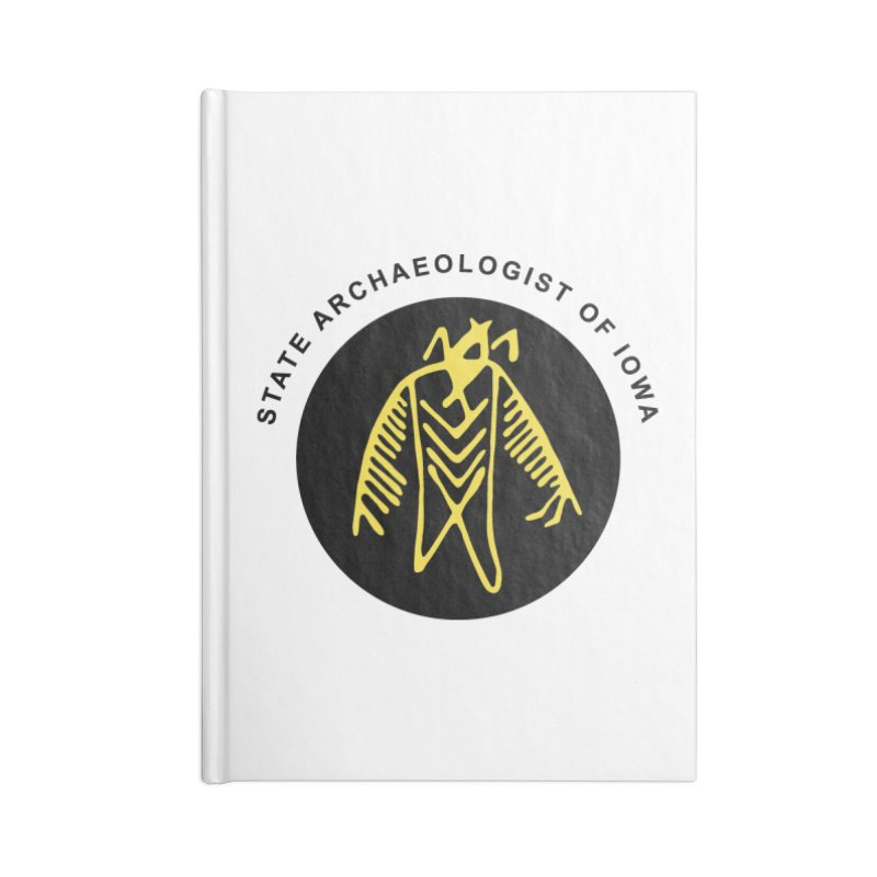 Office of the State Archaeologist Logo (Black & Gold) Accessories Lined Journal Notebook by Iowa Archaeology Gifts, Prints, & Apparel