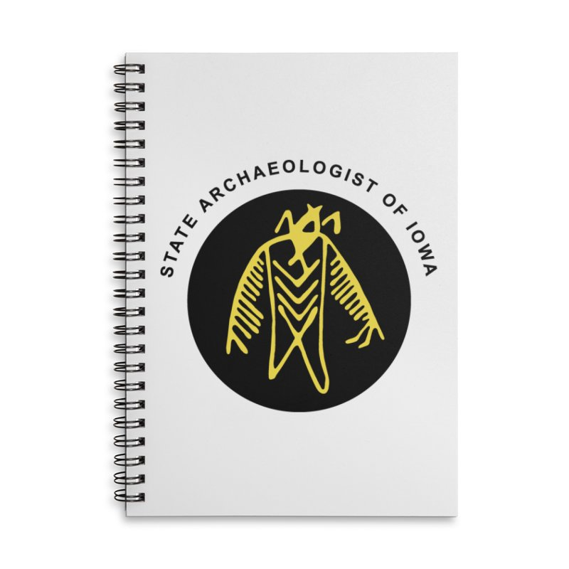 Office of the State Archaeologist Logo (Black & Gold) Accessories Lined Spiral Notebook by Iowa Archaeology Gifts, Prints, & Apparel