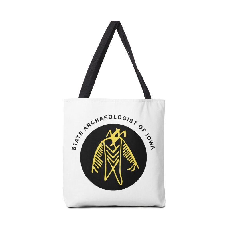 Office of the State Archaeologist Logo (Black & Gold) Accessories Bag by Iowa Archaeology Gifts, Prints, & Apparel