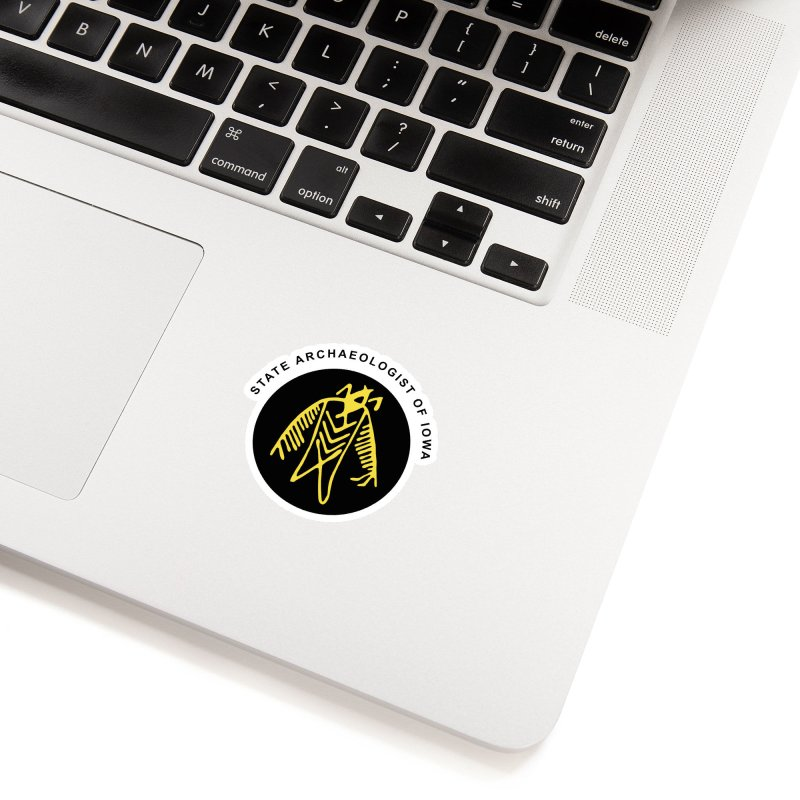Office of the State Archaeologist Logo (Black & Gold) Accessories Sticker by Iowa Archaeology Gifts, Prints, & Apparel