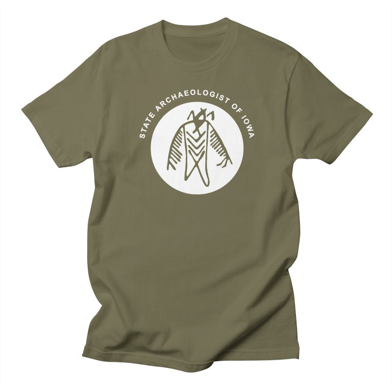 Office of the State Archaeologist Logo in (White) Men's Regular T-Shirt by Iowa Archaeology Gifts, Prints, & Apparel