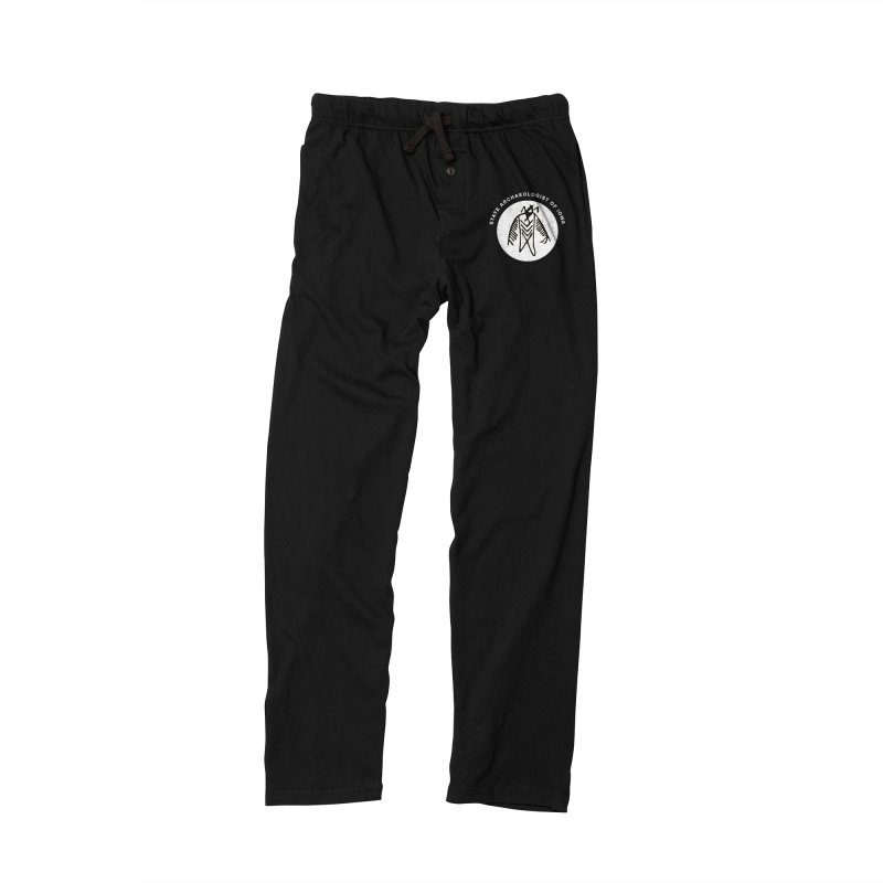 Office of the State Archaeologist Logo in (White) Men's Lounge Pants by Iowa Archaeology Gifts, Prints, & Apparel