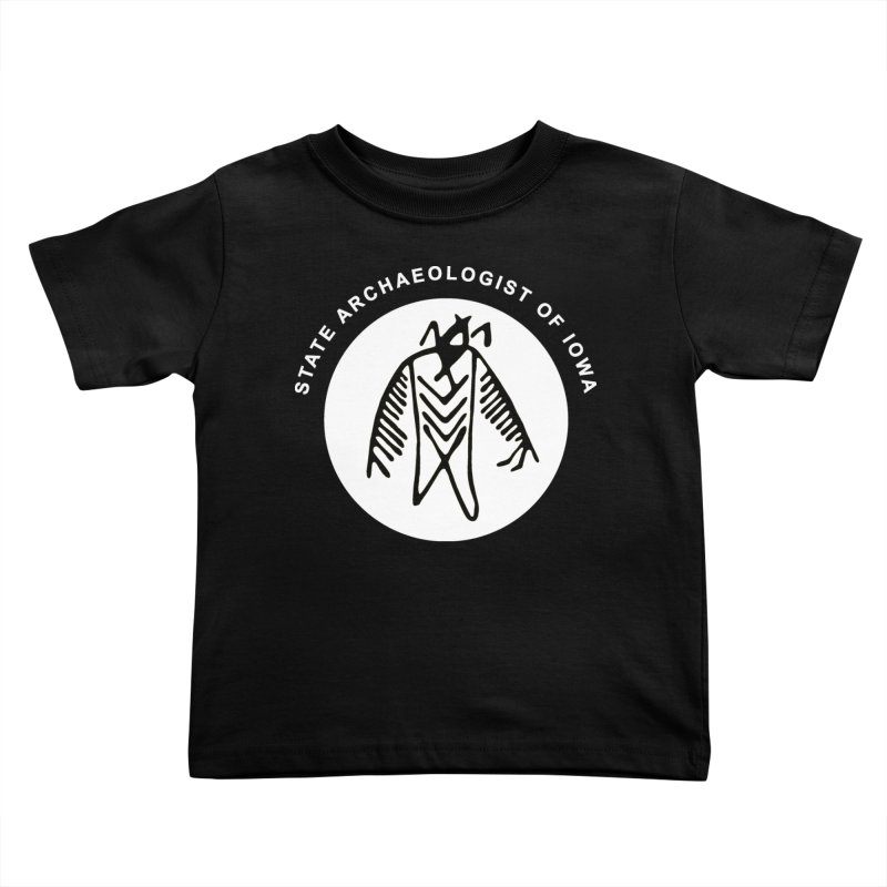 Office of the State Archaeologist Logo in (White) Kids Toddler T-Shirt by Iowa Archaeology Gifts, Prints, & Apparel