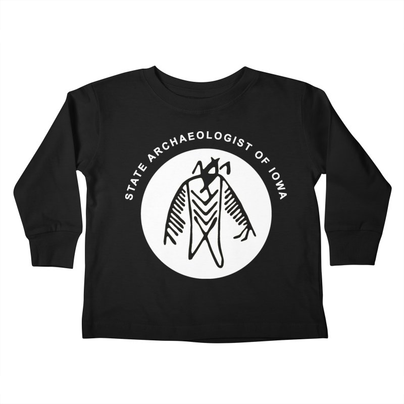 Office of the State Archaeologist Logo in (White) Kids Toddler Longsleeve T-Shirt by Iowa Archaeology Gifts, Prints, & Apparel