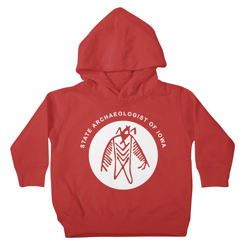 Office of the State Archaeologist Logo in (White) Kids Toddler Pullover Hoody by Iowa Archaeology Gifts, Prints, & Apparel