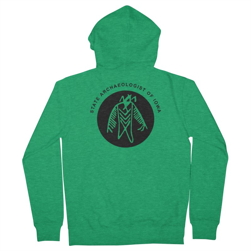 Office of the State Archaeologist Logo (Black) Women's Zip-Up Hoody by Iowa Archaeology Gifts, Prints, & Apparel