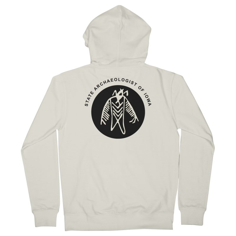 Office of the State Archaeologist Logo (Black) Women's French Terry Zip-Up Hoody by Iowa Archaeology Gifts, Prints, & Apparel