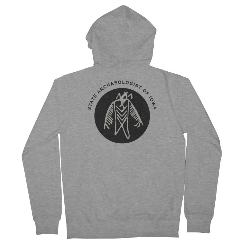 Office of the State Archaeologist Logo (Black) Men's French Terry Zip-Up Hoody by Iowa Archaeology Gifts, Prints, & Apparel