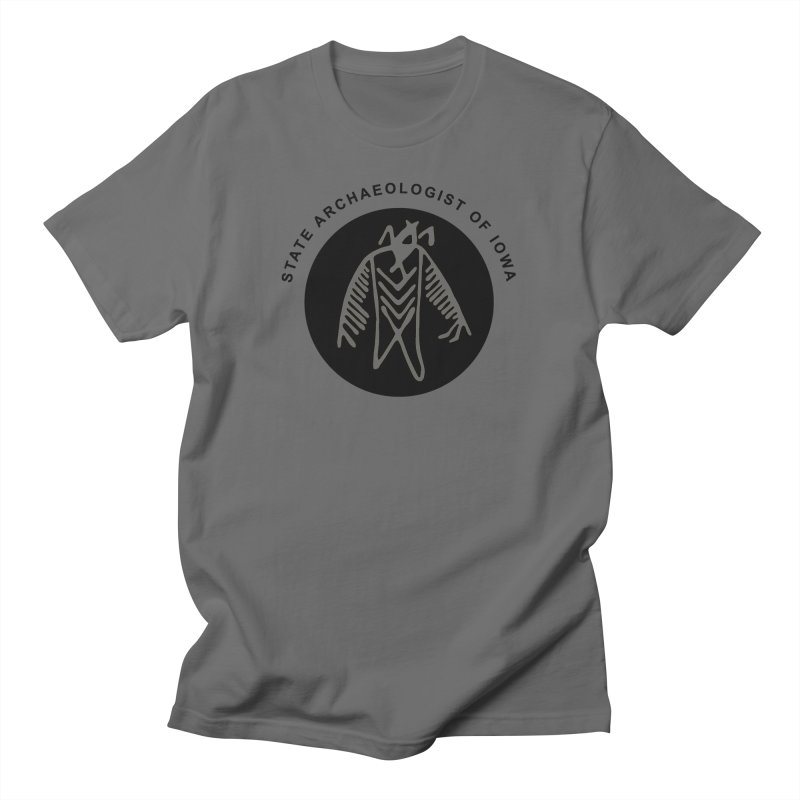 Office of the State Archaeologist Logo (Black) Men's T-Shirt by Iowa Archaeology Gifts, Prints, & Apparel