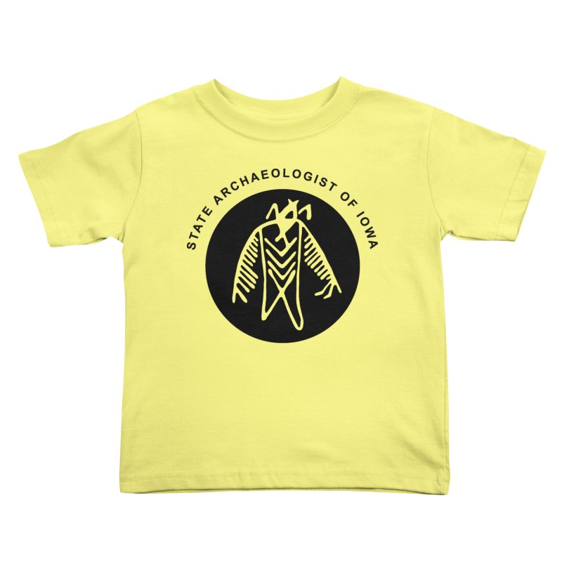 Office of the State Archaeologist Logo (Black) Kids Toddler T-Shirt by Iowa Archaeology Gifts, Prints, & Apparel