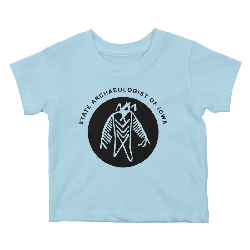 Office of the State Archaeologist Logo (Black) Kids Baby T-Shirt by Iowa Archaeology Gifts, Prints, & Apparel