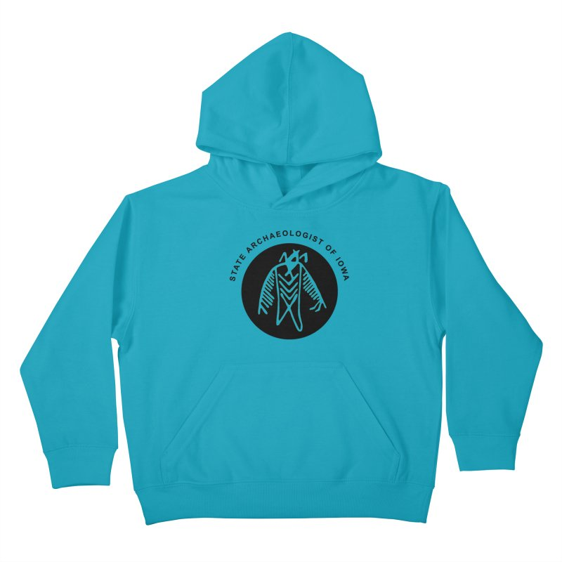 Office of the State Archaeologist Logo (Black) Kids Pullover Hoody by Iowa Archaeology Gifts, Prints, & Apparel